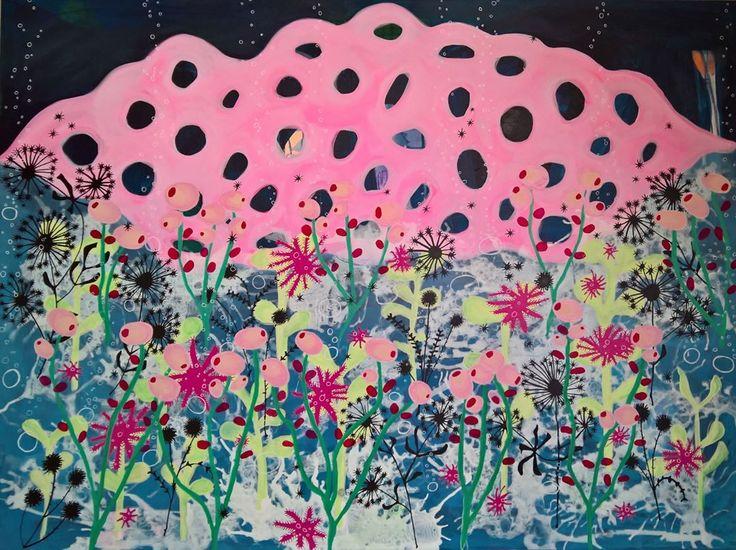 Abstrakt maleri af Rikke Ekelund This acrylic painting is for sale  @rikkethek • 37 Synes godt om