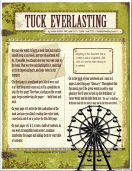 book report for tuck everlasting 'what if you could live forever' natalie babbitt explores this question in her novel, tuck everlasting read more about babbitt, her book, and.
