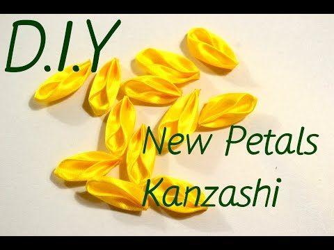 New Petals Kanzashi/Интересные лепесточки из атласной и репсовой ленты/D.I.Y - YouTube