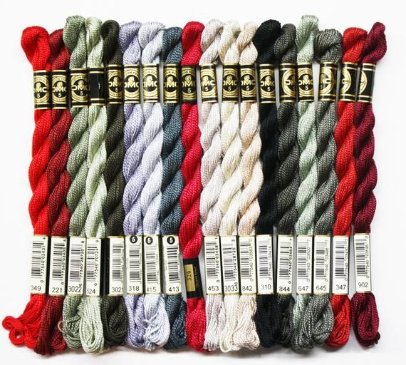 DMC Perle Cotton Embroidery Floss Assorted Colors of Size 5 Color Series 300