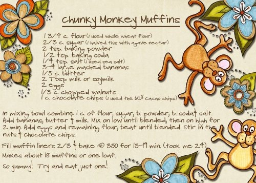 Chunky Monkey Muffins (Banana)