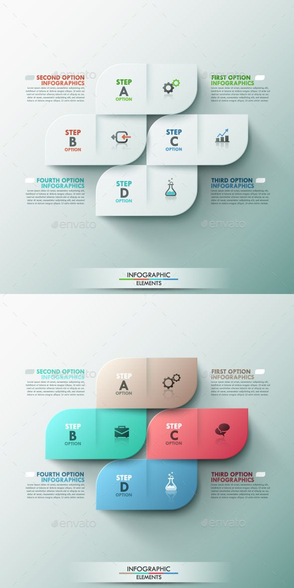 Modern Infographic Options Template (2 Colors) #design Download: http://graphicriver.net/item/modern-infographic-options-template-2-colors/9499643?ref=ksioks