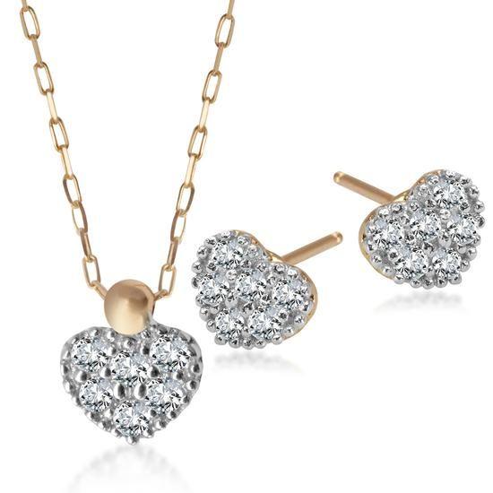 Komplet Walentynkowy, 674 PLN.  www.YES.pl/51502-komplet-walentynkowy-KOMPLET-D42-ZCB9098-ZFB9098 #jewellery #buyonline #heart #love #YESforRomance #perfect #shop #freedelivery #Poland #BizuteriaYES