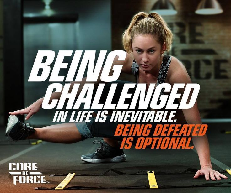 If you want real results, it's all about the mental game - you've got to push through and #FightForIt.   It's time to Hit It Hard with Core De Force! Sign up now to learn more about this full-body, MMA-inspired workout: http://weightomaintain.com/core-de-force-faq/