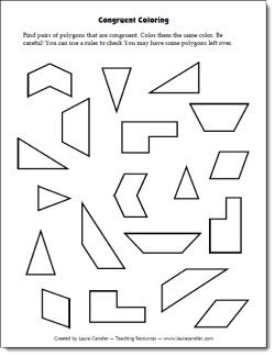 Congruent Coloring Freebie Students have to find pairs