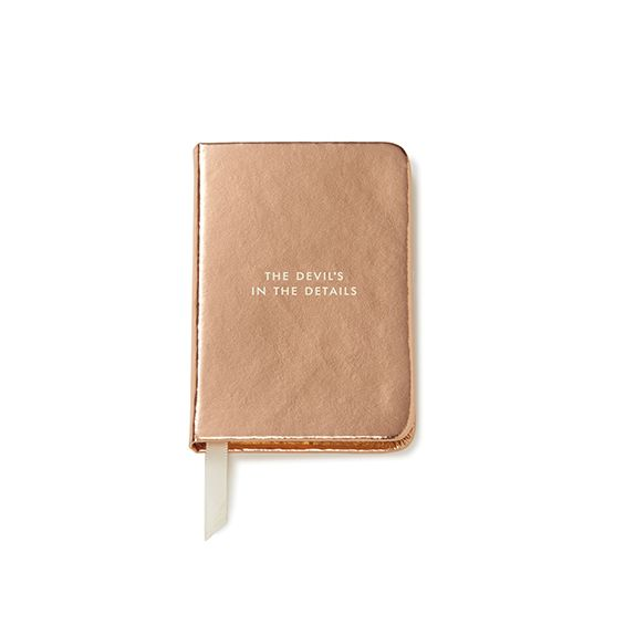 Kate Spade new york Mini Rose Gold Notebook 'The Devil's In The Details'