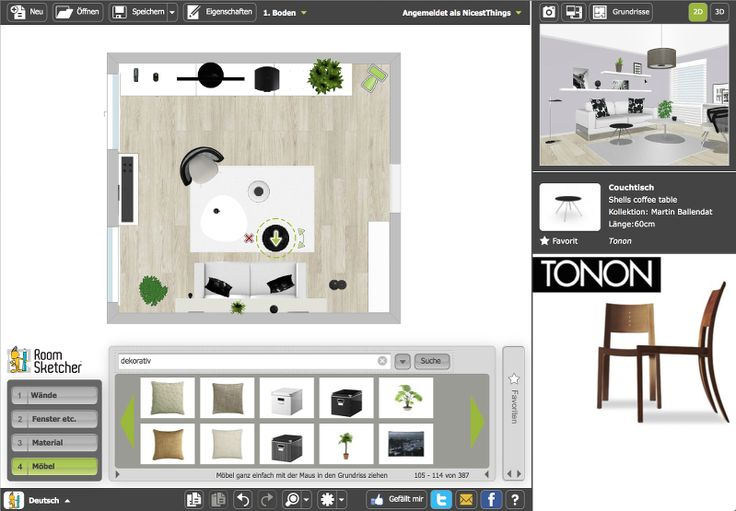 Wohnzimmer-News und Online-Raumplaner RoomSketcher