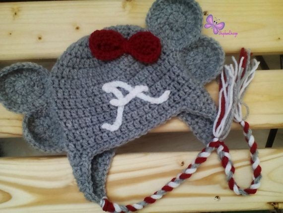 Alabama Inspired hat Crochet Alabama hat Football by StephanDesign