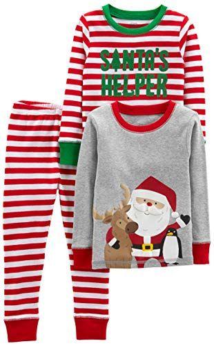 9b7b9fa718ed Simple Joys by Carters Boys 3-Piece Snug-Fit Cotton Christmas Pajama ...