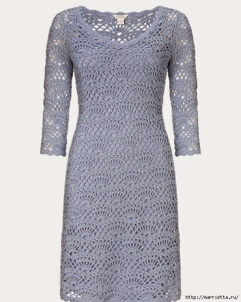 Delicadezas en crochet Gabriela: El esquema del patrón para el vestido.