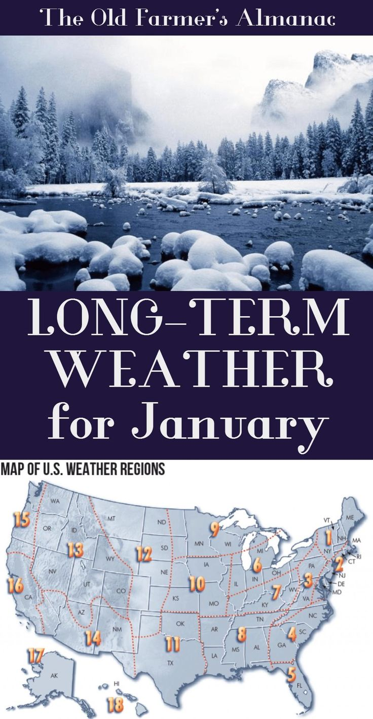 Find the long-term weather forecast for January from The Old Farmer's Almanac.