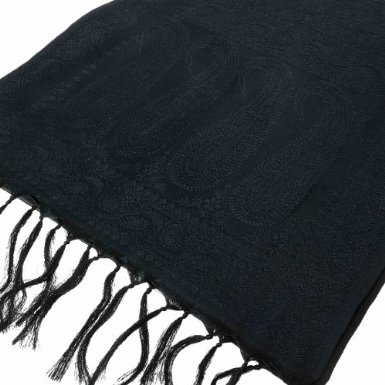 Birthday Gifts Lightweight Black silk from Benares for men 182 cm x 25 cm: Amazon.de: Clothing