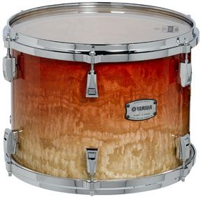 "Image of Yamaha PHX Phoenix Series Ash 24""x18"" Garnet Fade Bass Drum w/ Chrome Hardware"