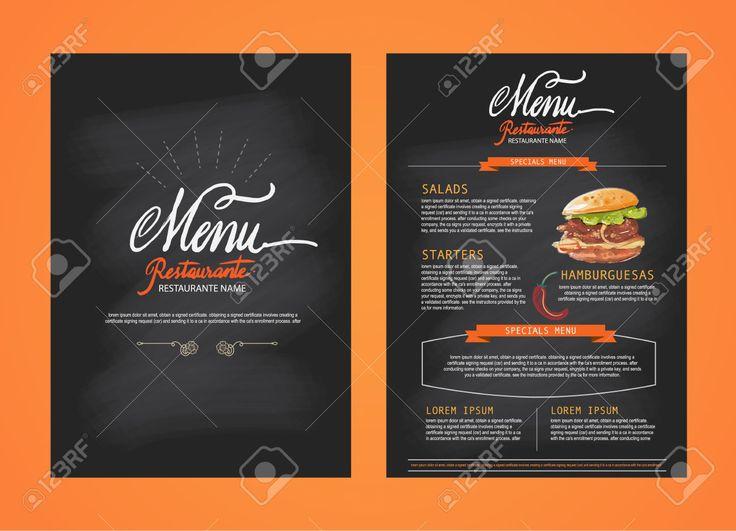 Le menu du restaurant, de la conception de modèle. Dépliant alimentaire. Brochure