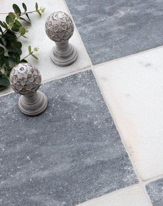 Parisian Chequerboard Tumbled Marble Tiles Mystonefloor Com Whitemarbleflooring Parisian Chequerboard Tumbled Marble Tiles A Combination Of Ou In 2020 Haus Kuche