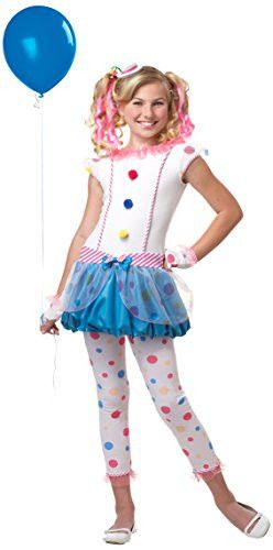 California Costumes Dotsy Clown/Tween Costume, One Color, Large
