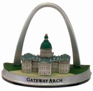 Gateway Arch and Old Courthouse Mini Commemorative Sculpture
