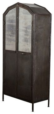 Metal Wardrobe - industrial - Bookcases Cabinets And Computer Armoires - C.G. Sparks $1,350