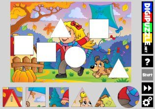 Fall Shape Puzzles