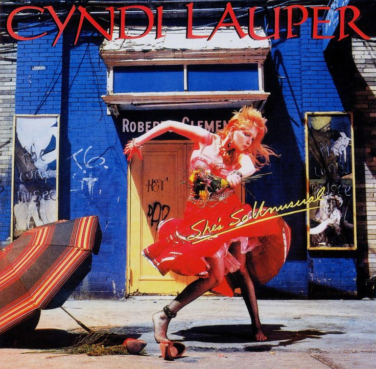Cyndi Lauper • She's So Unusual front cover art concept and direction