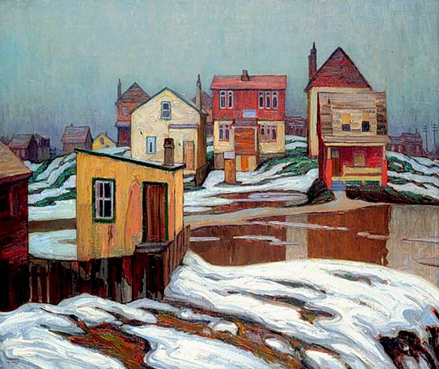 January Thaw, Edge of Town c.1921 Lawren Harris