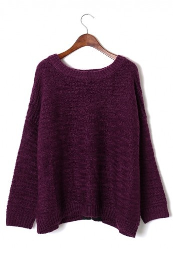 violet asymmetric sweater. With leggings and either boots or oxfords always easy