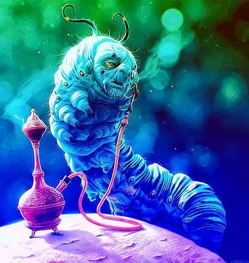 Resultado de imagen para alice in wonderland caterpillar tim burton