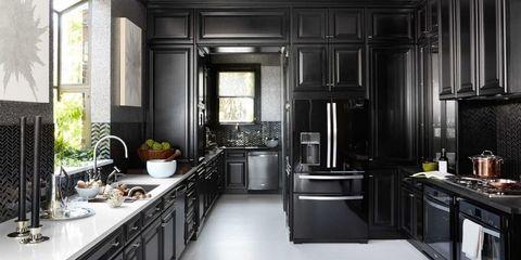 Black Kitchen Black Kitchens Kitchen Interior Popular Kitchen Designs