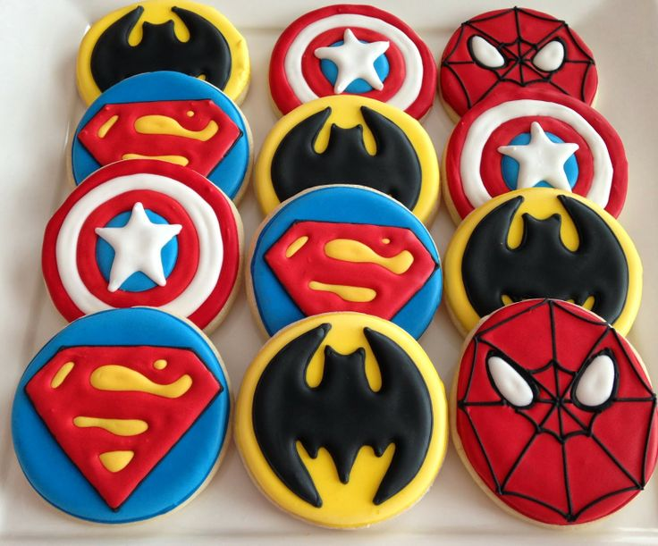 images of superhero cookies | Super Hero Cookies