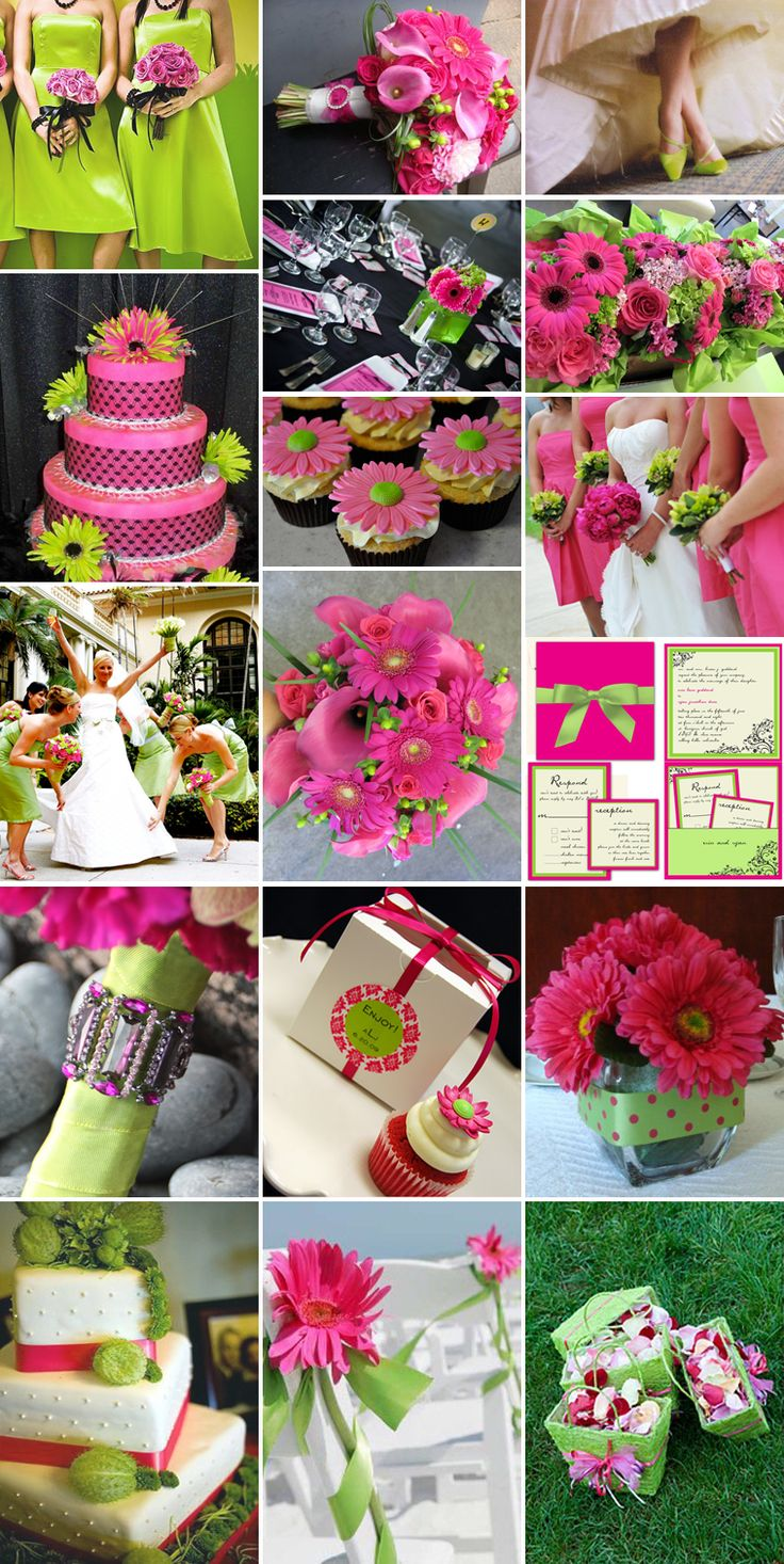 Cherry Pink & Lime wedding theme