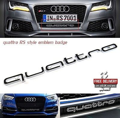 Audi quattro #bumper grill #badge logo #emblem rs6 rs a1 a3 a4 a5 a6 a7 a8 s3 s4 ,  View more on the LINK: http://www.zeppy.io/product/gb/2/222196120231/