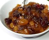 Vegetarian Slow Cooker: Peach Apricot Cherry Raisin Chutney