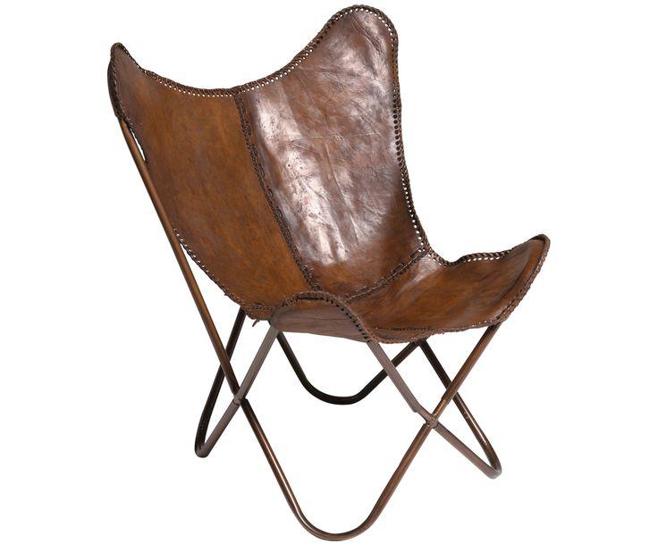 Mit Leder-Sessel Butterfly in Braun von KARE verwandeln Sie Ihr Wohnzimmer in eine Wohlfühloase. Entdecken Sie weitere hochwertige Möbel auf >> WestwingNow.
