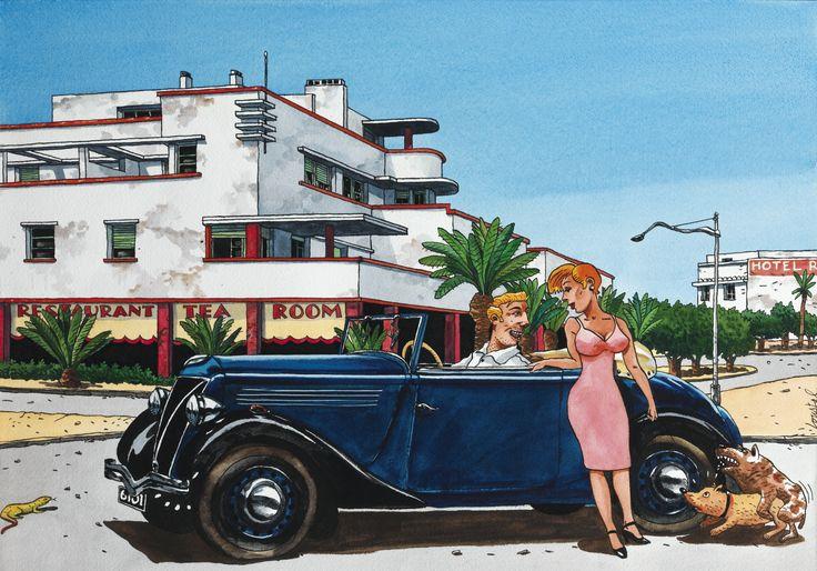 Loustal Jacques de Loustal dit (né en 1956) Un après-midi à Fedala, circa 1984 - Sotheby's