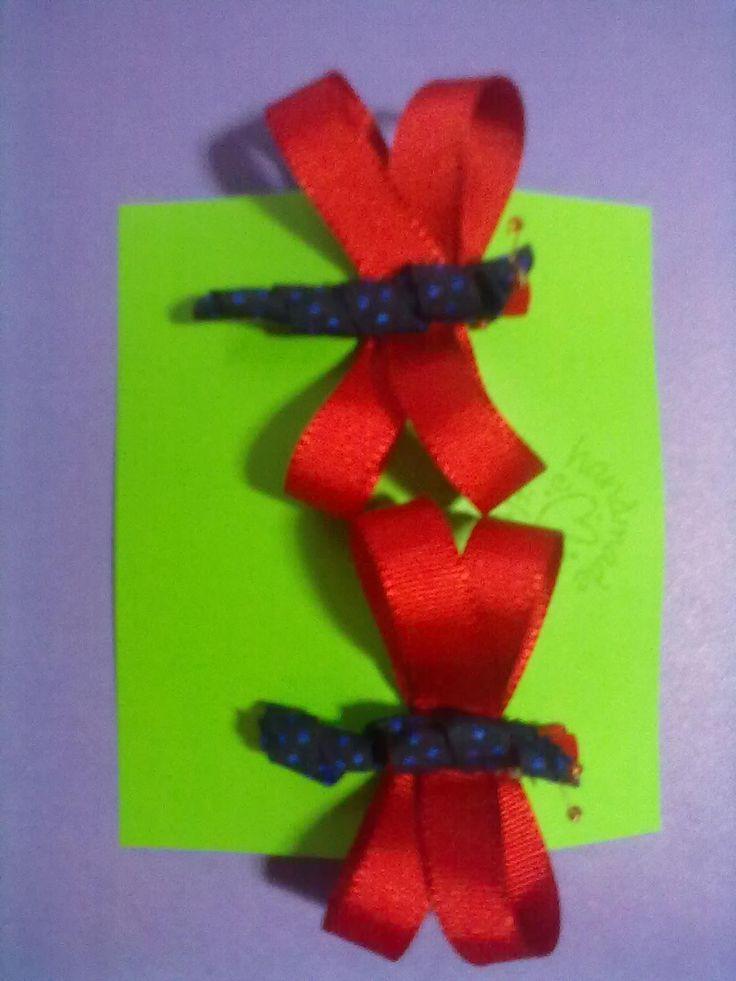 Dragonflies in red Libélulas rojas $8.000 COP-pair