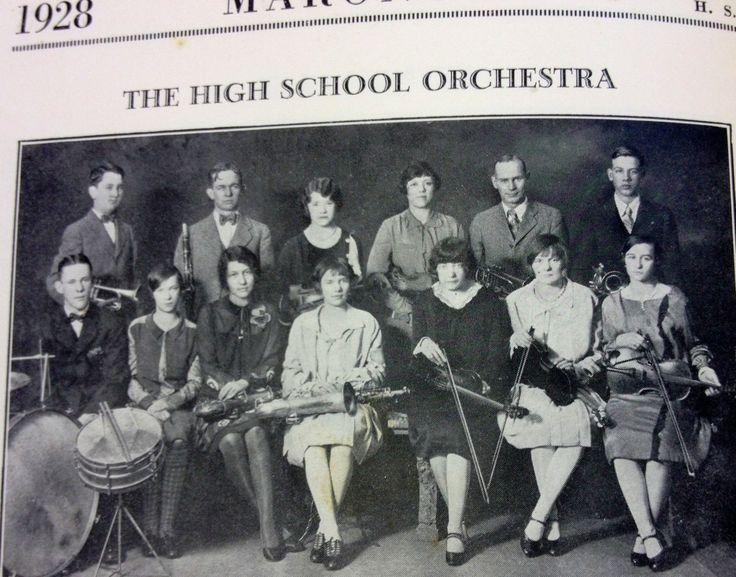 1928 Maroa High School student orchestra