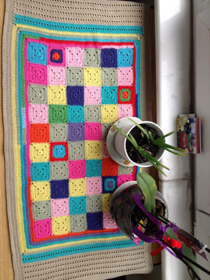 Crochet, granny, colourful, renkli örgü örtü