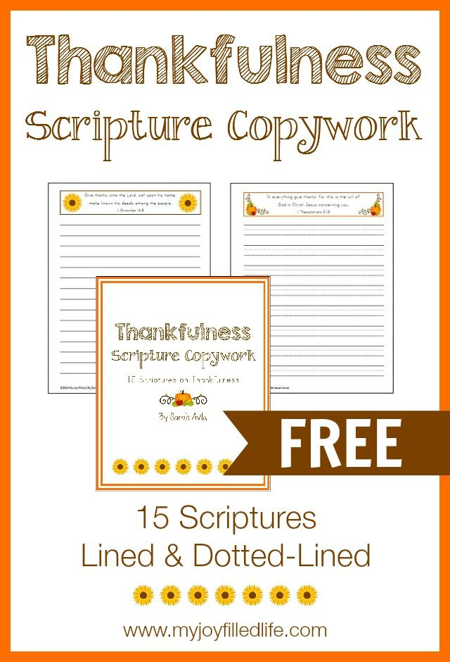I like incorporating copywork into our homeschool whenever possible, especially into our science, history, literature, and Bible studies. With Thanksgiving right around the corner I thought I'd put together some scripture copywork with scriptures that focus on being thankful. I've chosen 15 scriptures from the King James Version of the Bible about thankfulness. Each scripture …