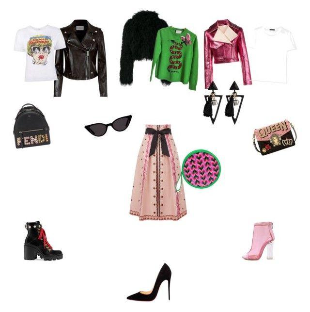 """Unbenannt #13"" by shestopalova-marina on Polyvore featuring Mode, Temperley London, Gucci, WithChic, Christian Louboutin, Sies Marjan, Haider Ackermann, Claudie Pierlot, The Row und Dolce&Gabbana"