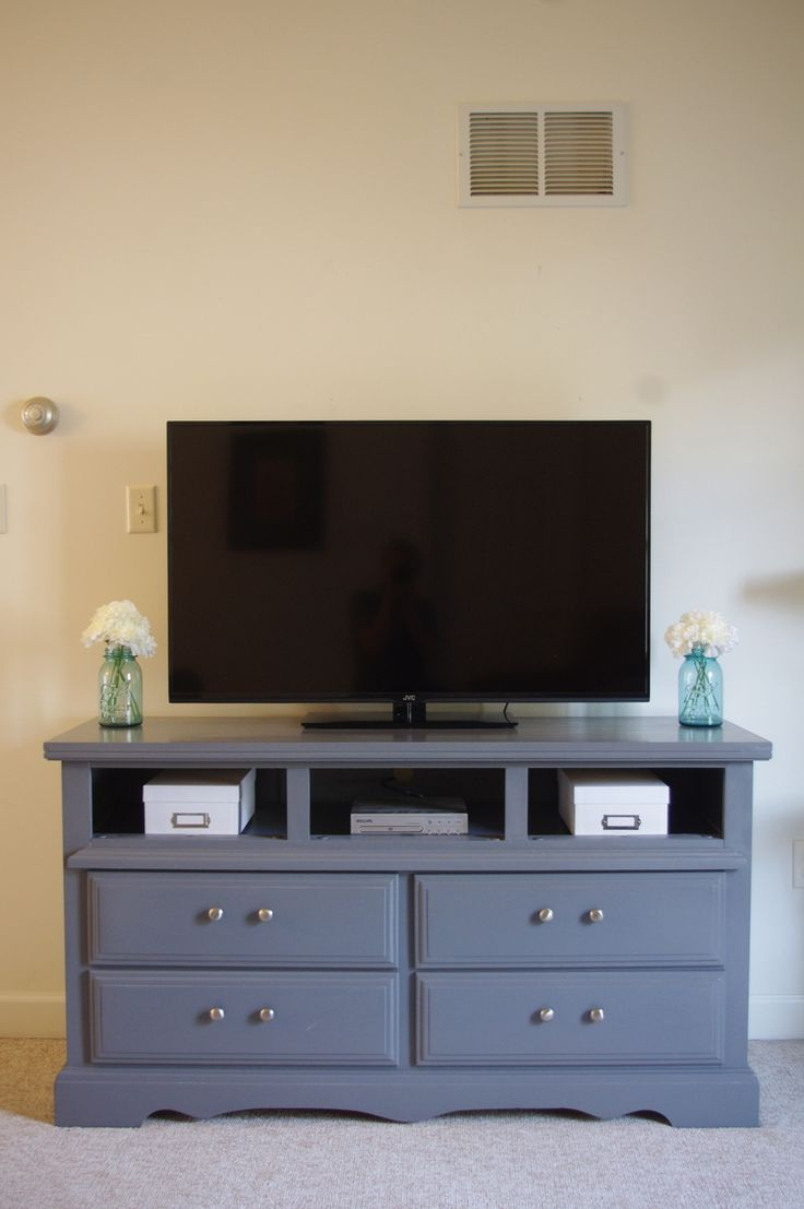 Repurposing a Dresser into a tv stand