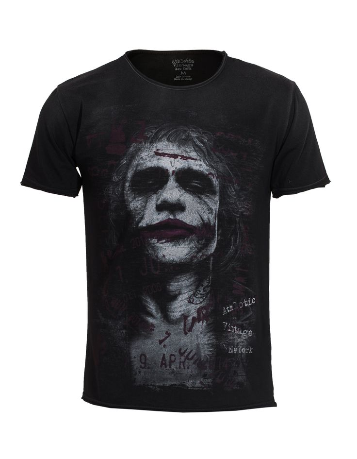 #ATHLETICVINTAGENY Joker Anthracite Cotton t-shirt with print