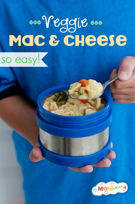 This is one recipe your kids are going to love! Easy, cheesy and delicious this veggie mac and cheese is the perfect lunchbox thermos lunch!