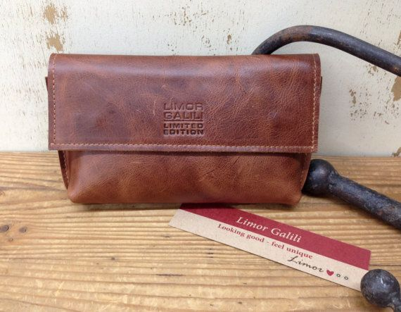 Sale!!! Distressed brown Leather pouch Mens pouch Women's makeup bag pouch Wallet Can be personalized, details in description by plgdesigns. Explore more products on http://plgdesigns.etsy.com