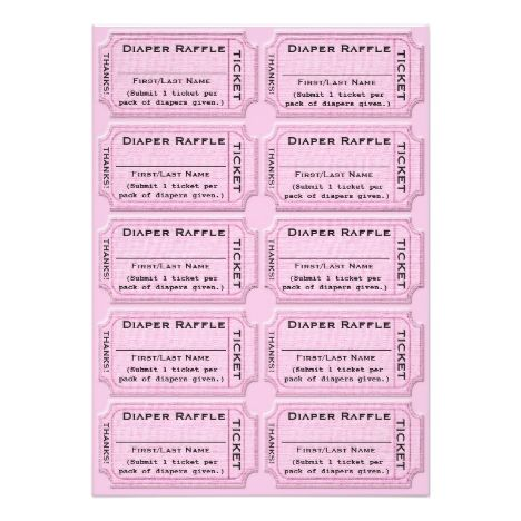 The 25+ best Raffle tickets ideas on Pinterest Diaper raffle - raffle ticket template