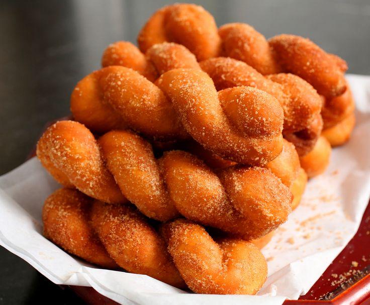 Twisted Korean doughnuts (Kkwabaegi) recipe - Maangchi.com - Soyoung's recipe, veganize with vegan butter/milk/flax egg
