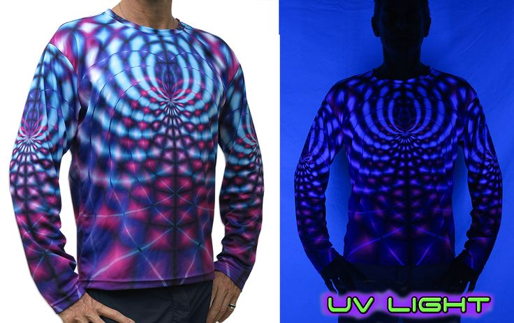 "Sublime L/S T : Violet Web Fully printed long sleeve T shirt. This shirt is an ""All Over"" printed T shirt that will really grab people's attention. Printed using sublimation printing on a high quality polyester / Dri-Fit blended shirt. This allows for extremely vibrant colors that will never fade away no matter how many times it gets washed, & results in an extremely soft ""feel"" to the shirt, providing ultimate comfort."