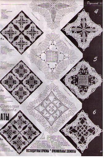 crochet bruges square motf chart - Picasa Web Album