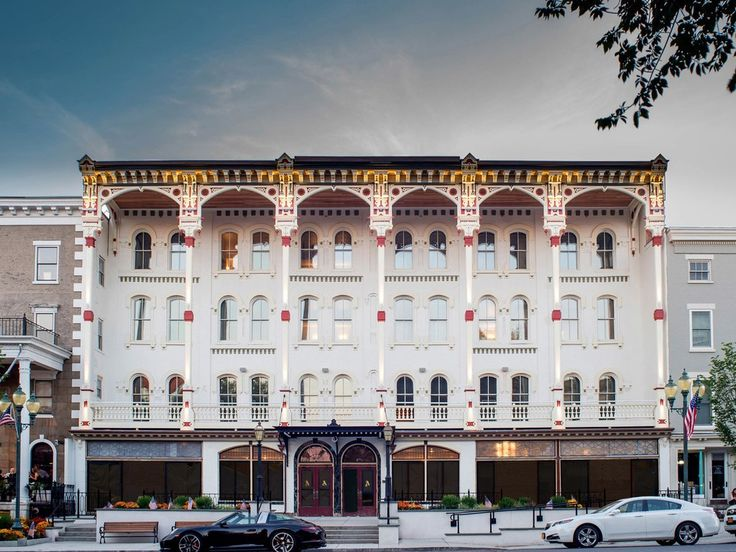 What to know: This 1877 iconic hotel just unveiled the results of a five-year renovation, a modern take on Victorian décor that includes brightly upholstered period furniture, large freestanding tubs, and a hopping lobby bar, Morrissey's, named for the co-founder of Saratoga's race track.
