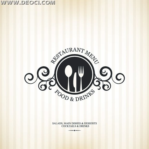 Restaurant Decor Vector : Deoci simple vector the western restaurant menu