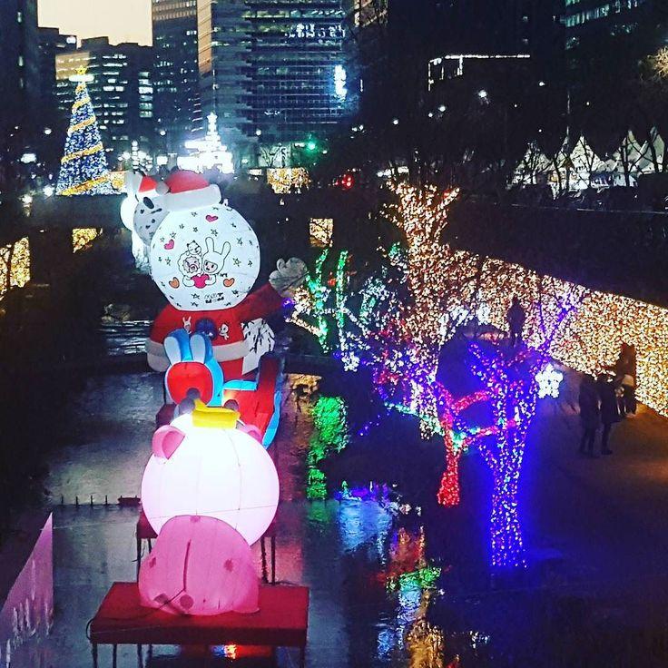 크리스마스 풍경청계천서울 #christmastree #xmas #feliznavidad  #seoul #cheonggyecheon